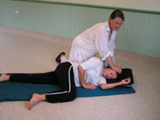 A Shiatsu treatment